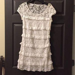 Dianne von Furstenberg White Lace Dress never worn